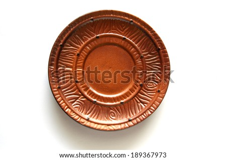 saucer on a white background - stock photo
