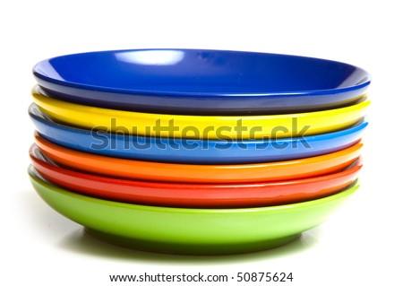 saucers - stock photo