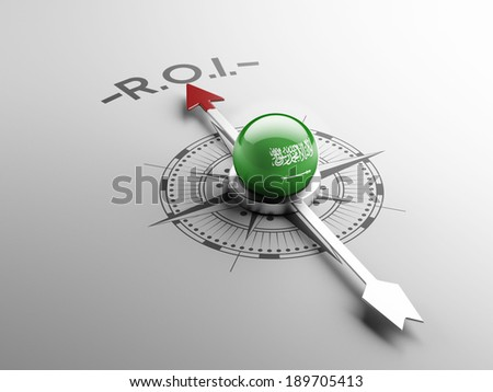Saudi Arabia High Resolution ROI Concept - stock photo