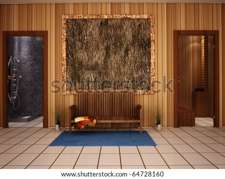 Sauna interior - stock photo