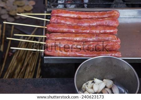 Sausages - stock photo