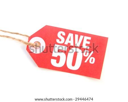 save 50% - stock photo