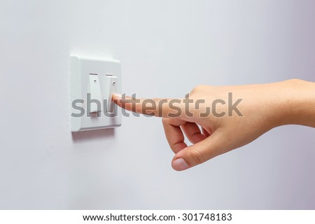 save energy - stock photo