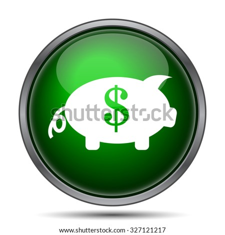 Save money icon. Internet button on white background.  - stock photo