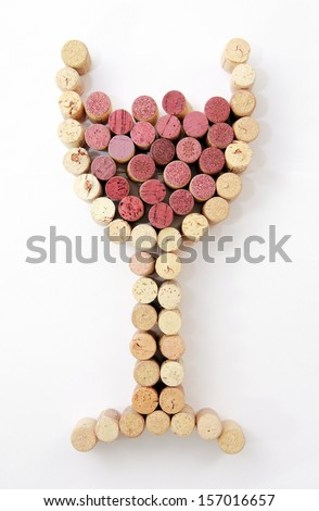 Save Water Drink Wine Cork with Corkscrew  - stock photo