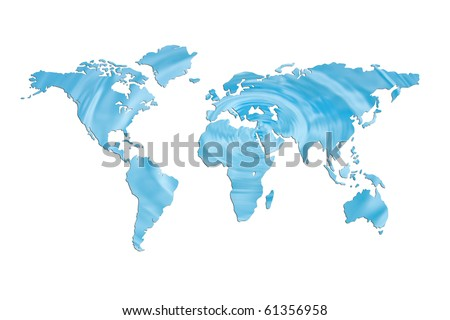 save water for the earth - stock photo