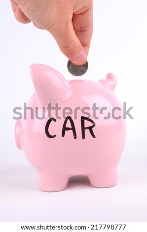 Saving For A Car - stock photo