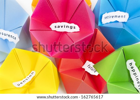 saving for future concept boxes - stock photo