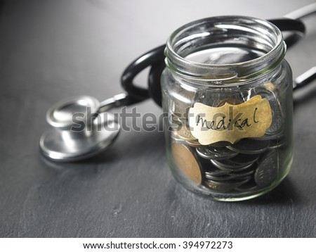 saving for the medical fund - stock photo