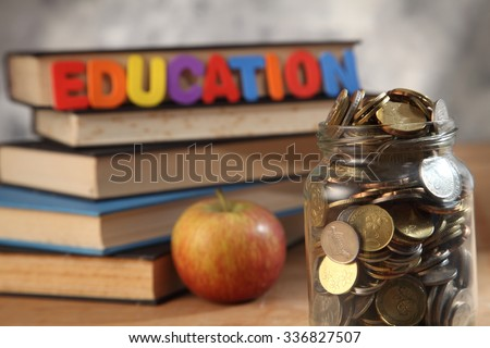 saving for your education concept - stock photo