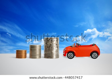Saving money for a house. - stock photo