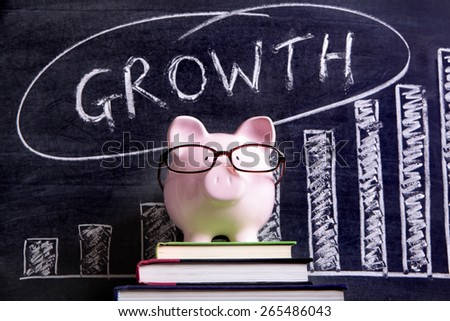 Saving plan, investment growth, piggy bank - stock photo