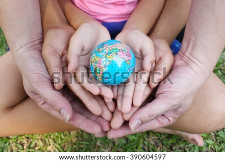 Saving the world - stock photo