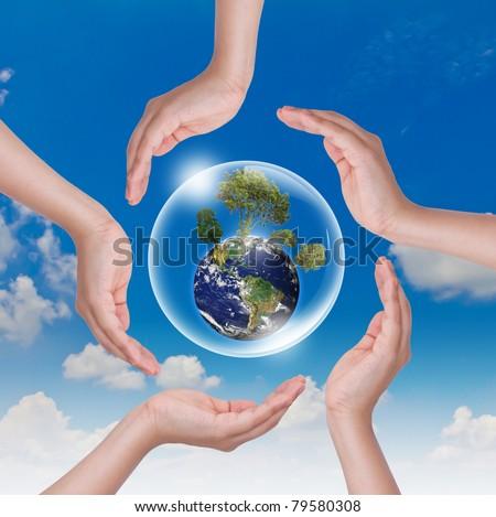 Saving world - stock photo