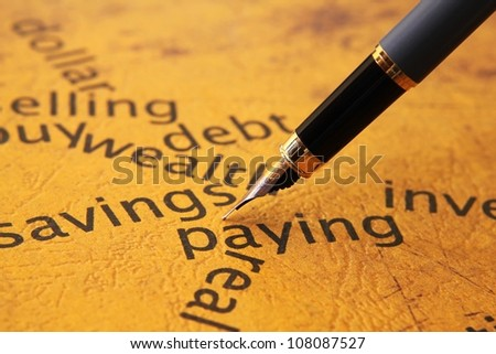 Savings and paying concept - stock photo