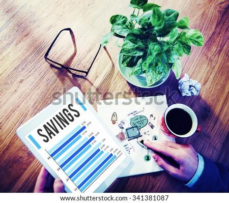 Savings Finance Budget Economy Money Save Concept - stock photo