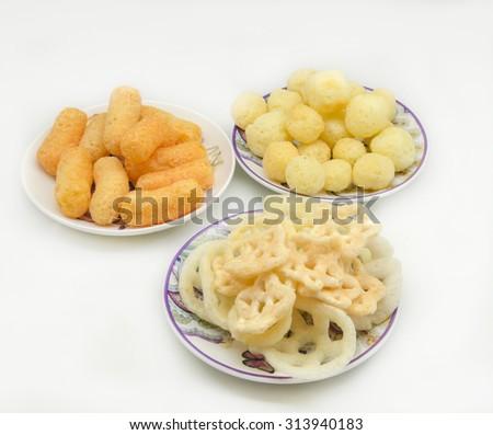 Savory snacks - stock photo