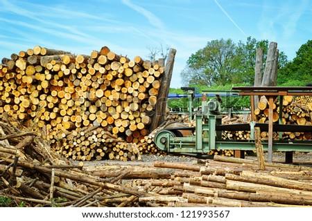 Sawmill (lumber mill) - stock photo
