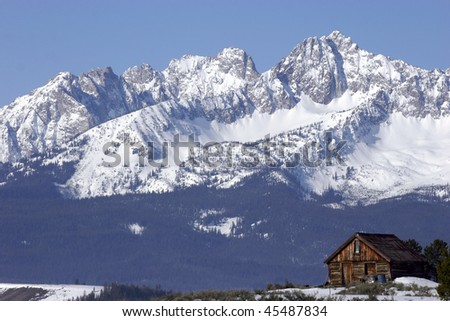 Sawtooth Cabin - stock photo