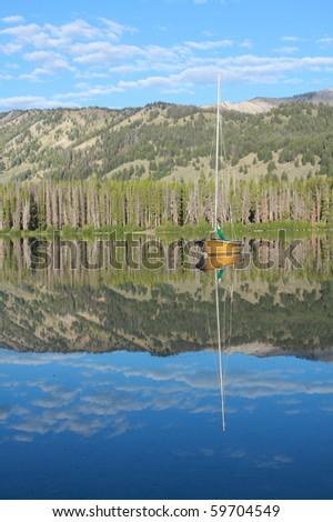 Sawtooth Lake - stock photo