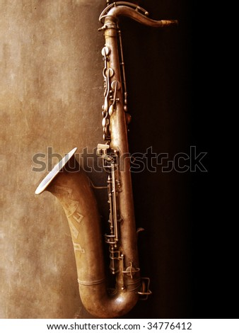 Saxophone - stock photo