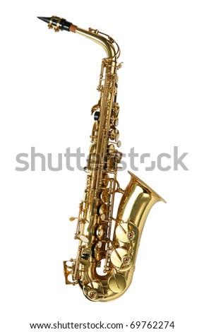 Saxophone alto - stock photo