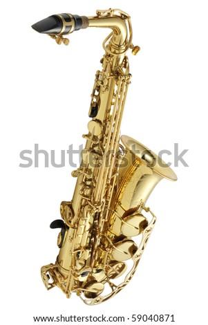 Saxophone alto A - stock photo