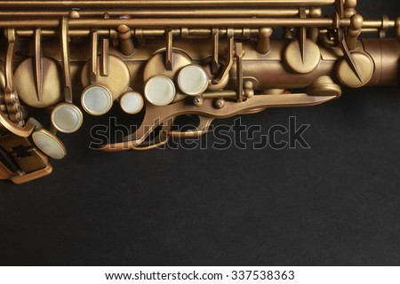 Saxophone Alto Sax Jazz Music Instrument closeup - stock photo