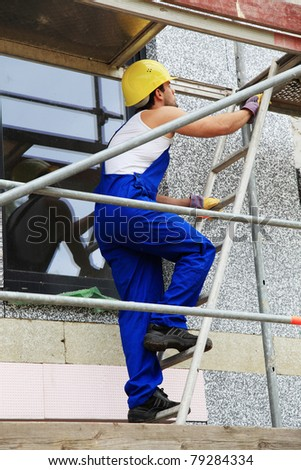 Scaffold on construction site. - stock photo