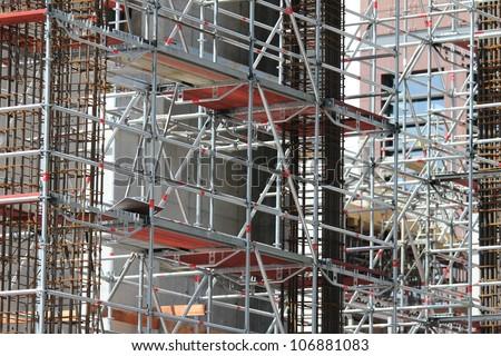 scaffolding - stock photo
