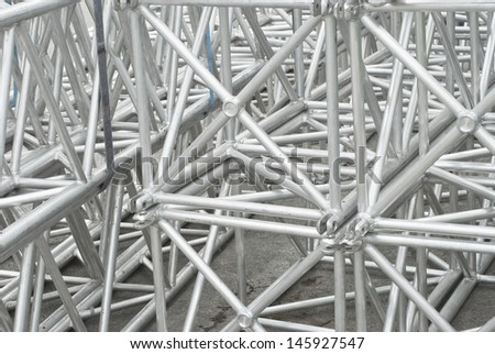 Scaffolding as Safety Equipment on a Construction Site - stock photo