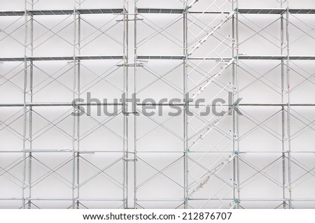 Scaffolding on a construction site for use as Illustration - stock photo