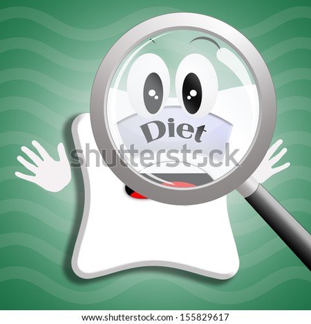 scale for dieting - stock photo