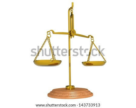 Scale gold - stock photo