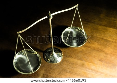 Scale of Justice - stock photo