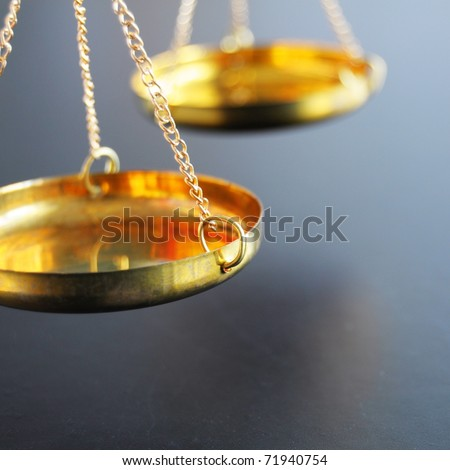 scale or scales with copyspace showing law justice or legal concept - stock photo