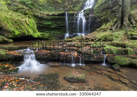 Scalebor Force waterfall, Yorkshire Dales (UK) - stock photo