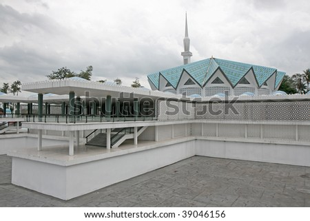 Scaled replicas of National Mosque, Malaysia - stock photo