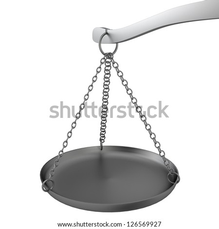 Scales. 3d illustration on white background - stock photo