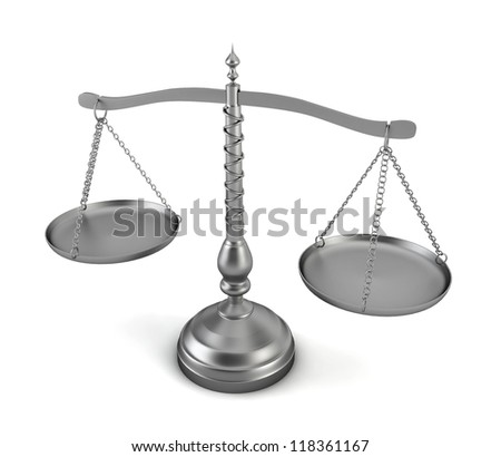 scales - 3d render on white - stock photo