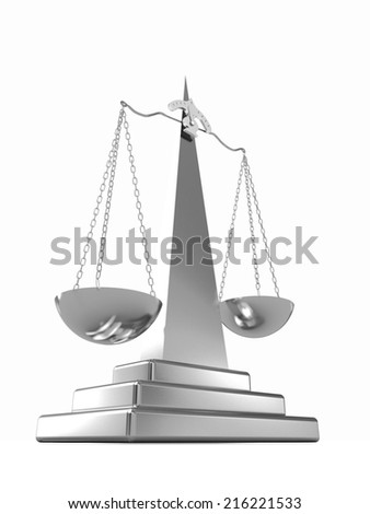 Scales on a white background - stock photo