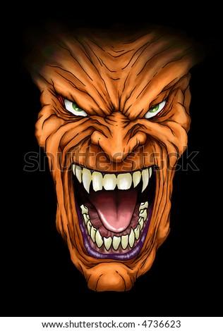 Scare Face - stock photo