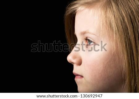 Scared child - stock photo
