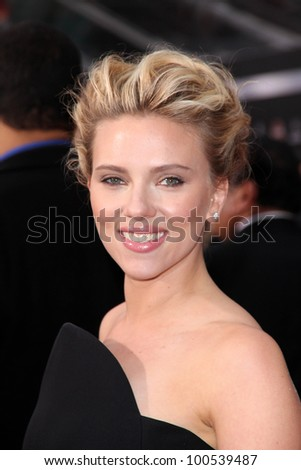 "Scarlett Johansson at the ""Marvel's The Avengers"" Los Angeles Premiere, El Capitan Theatre, Hollywood, CA 04-11-12 - stock photo"