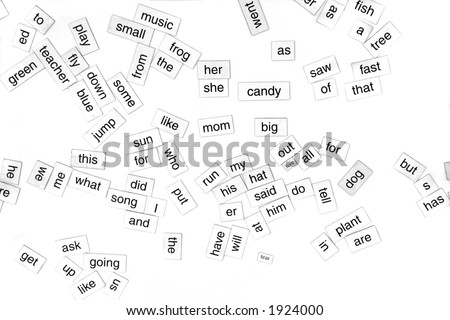 scattered, random words - stock photo