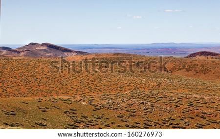 scene in Flinders Ranges Australia - stock photo