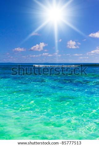 Scene Lagoon - stock photo