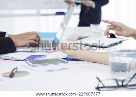 Scene of the modern office - stock photo