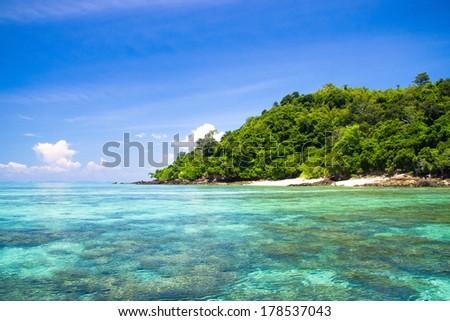 Scene under the Sun Sunshine Coast  - stock photo