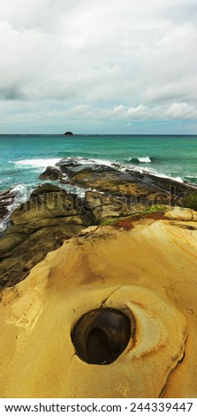 Scenery at Tip of Borneo beach,Kudat,Sabah  - stock photo